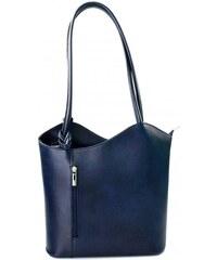 Kožená luxusní tmavě modrá crossbody kabelka Grand Royal VERA PELLE 26124 36b43707425