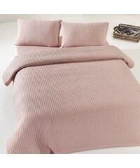 Bonami Dusty Rose Pique bézs-rózsaszín kétszemélyes pamut ágytakaró b211bfe29e