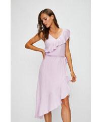 LM moda Plážové zavinovací šaty jednobarevné fialové - Glami.cz d0ab80999b
