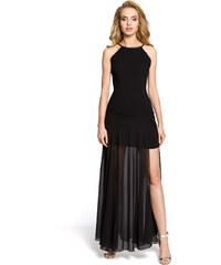 Černé společenské šaty MOE 199 2021fd8dff