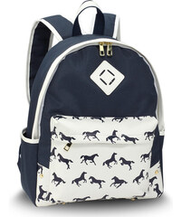 344f93e0be8 L S Fashion Batoh Navy Horse Print Backpack School Bag AG00619B NAVY
