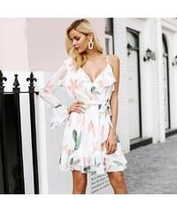 69a192bac1c2 Simplee elegantní mini šaty s volány S18DR0006 WHITE