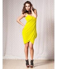 LM moda A Plážové zavinovací šaty jednobarevné žluto zelené c5d7f808d4