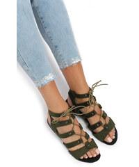 United Fashion Zelené sandály Julier 5fbaf04935
