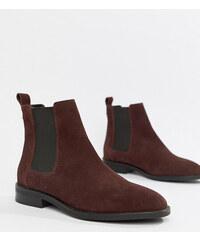 ASOS DESIGN Aura suede chelsea ankle boots - Burgundy suede a8e7917a06