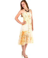 f99d85e1f60 YooY Dámské letní volné šaty s potiskem (oranžová