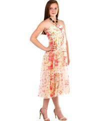 e912a59e61ed TopMode Dámské letní volné šaty s potiskem (červená
