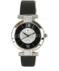 d0f23901923 Dámské hodinky s kamínky Swarovski SLAVA ve stříbrném pouzdře