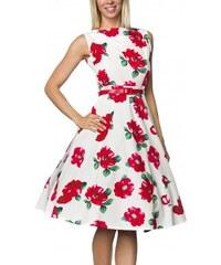 Krásne retro šaty s kvetinovým vzorom 14737 19f5d943686