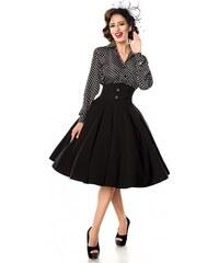 881aa7f75287 Elegantná čierna spoločenská retro sukňa Belsira Belsira 50064