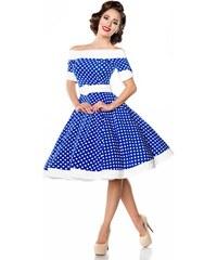 d3c8d1cd0032 Rozkošné retro šaty s bodkami Belsira Belsira 50051