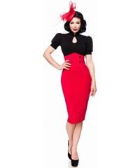 f1edb66524a7 Úzka červená pencil retro sukňa s vysokým pásom Belsira 50070