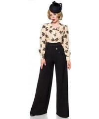 7fffcf7d72d4 Široké čierne nohavice inšpirované Marlene Dietrich Belsira 50073