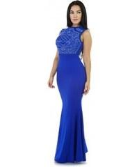 420e89100f10 Dlhé modré šaty s kamienkami do spoločnosti S2079-2