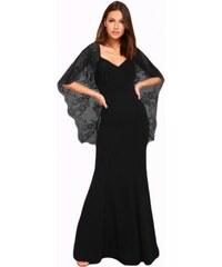 0a89217b92a Dlhé spoločenské šaty s čipkovanou vlečkou LC61789-2
