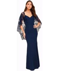 dc552f90bada Dlhé spoločenské šaty s čipkovanou vlečkou LC61789