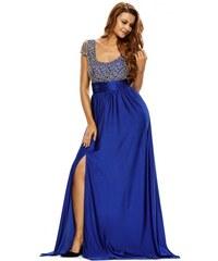 Dlhé modré spoločenské šaty ISABEL LC60809-5 36b1611adbe