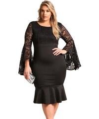 a76a0f3c3046 Krátke čierne spoločenské šaty pre moletky LC61875-2