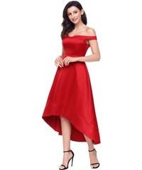 8ae148c42b29 Krátke bardot spoločenské šaty - červené LC61850-3