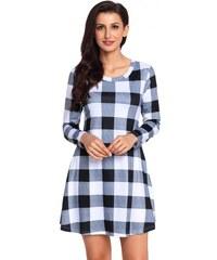 Krátke kockované šaty s dlhým rukávom 2 LC220183-2 795edda888c
