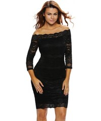 Čipkované čierne midi spoločenské šaty LC61291-2 909aacdb585