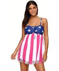 e579fb5f368b Plavkové šaty so vzorom americkej vlajky LC410326