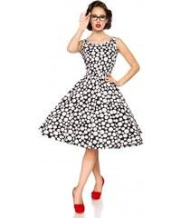 0e662664dbae Elegantné spoločenské retro šaty s bodkami od Belsira Belsira 50092