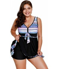 c3bb12e00772 Plavkové šaty s indiánskou potlačou LC410337-1