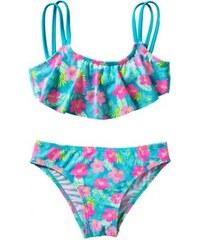 dfa8b1aa883e Dievčenské dvojdielne kvietkované plavky TZ410009