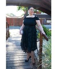 Bellazu Romantické šaty Lavish s krajkovou sukní černé 21b593d10c