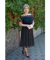Bellazu Krajkové šaty Avant Garde s rozšířenou sukní černé dbbf2b481f