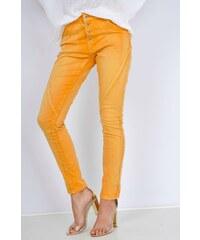 BASIC Oranžové džínové kalhoty s knoflíky - B306. 225 Kč LondonClub.cz be8a779b87