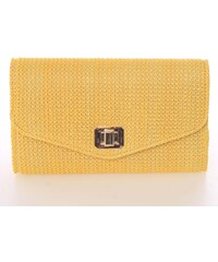 Originálna dámska listová kabelka žltá - Delami D693 žltá 2cd3e39f6ab