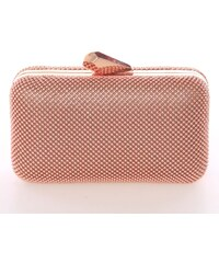 907b89f4b4 Módna dámska perleťová listová kabelka ružová - Delami V437 ružová