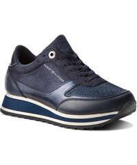 Sneakersy TOMMY HILFIGER - Metallic Retro Runner FW0FW03337 Midnight 403 19ffc30933c