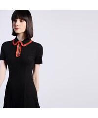 03b1d8ca64f9 GLAMOROUS Čierne šaty s golierikom S