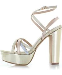 2b838e3cda60 Moow Zlaté sandále Stefanie