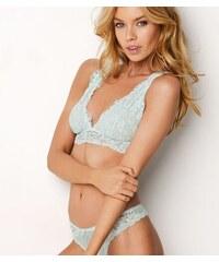 Victoria s Secret Modrá braletka Floral Lace Plunge Bralette Victoria´s  Secret 849fa32e8b