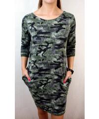 3a1398ca163 Made in Italy Dámské šaty Army zelené
