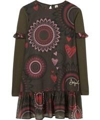 d977f3aaf479 Desigual čierno-biele dievčenské šaty Blondie - Glami.sk