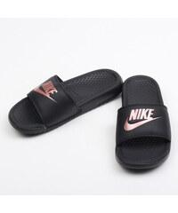 Nike WMNS Benassi JDI black   rose gold f49d2d7cbb