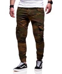 c79422d38dd MyTrends Pánské maskáčové chino jogger kalhoty JN-3652