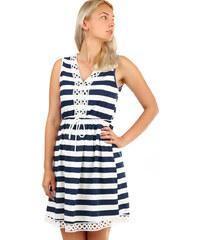 Glara Krátke dámske letné námornícke šaty fb0e9733c89