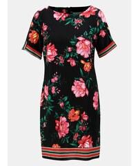 Černé květované šaty s krátkým rukávem Dorothy Perkins Petite bbaff7d8bd