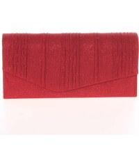 Elegantná dámska glitterová listová kabelka červená - Delami L023 zlatá d11cb0253ba