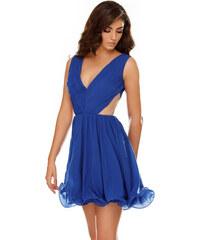 StarShinerS Kék ruha alkalmi fátyol harang teljesen kivágott hátrésszel  belső béléssel e9fbb93d61
