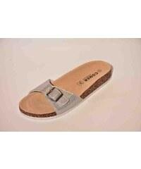 4f642775152d Dámske papuče COMER SR15146 Silver-D 37