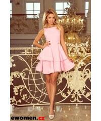 Růžové společenské krátké šaty - Glami.cz 2013528fa5