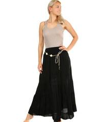 f023df09c78 Glara Dlouhá dámská maxi sukně s elegantním páskem