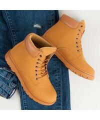 Béžová dámské boty na podpatku - Glami.cz 5d037db292